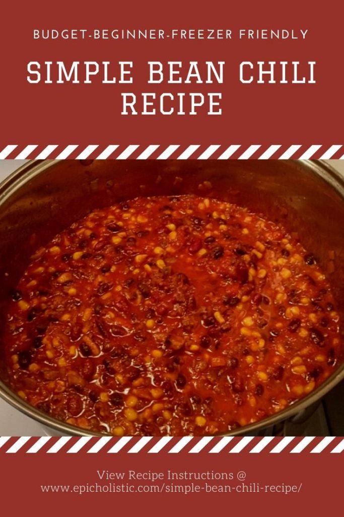 Simple Bean Chili Recipe_by Epicholistic.com